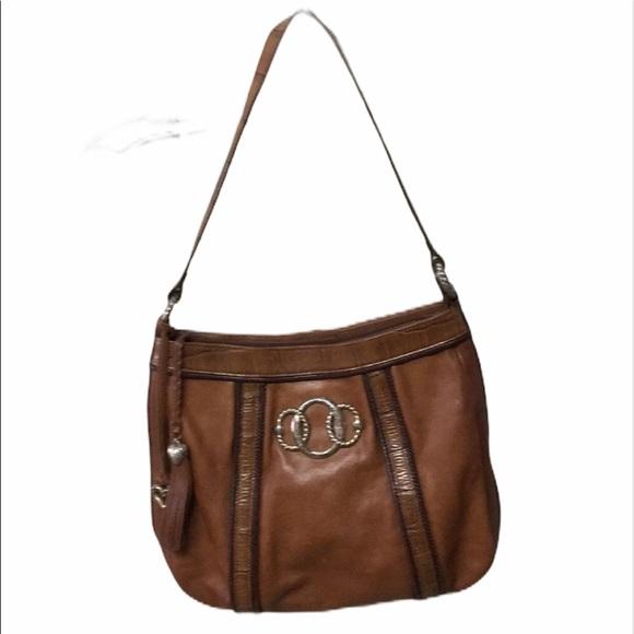 Brighton brown leather shoulder purse